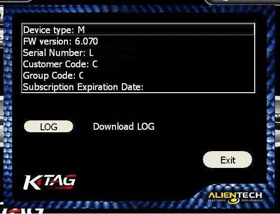 Обновление K-TAG до 2.11 FW 6.070